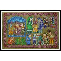 "Mithila Traditional Wedding Painting 29.5"" x 19.5"""