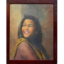 """Young Lady Oil Painting 19"""" x 23"""""""