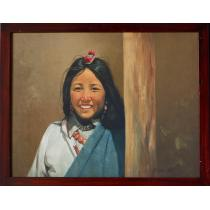"Tamang Girl Oil Painting 20.5"" x 26.5"""