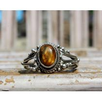 Tiger Eye Silver Ring for women