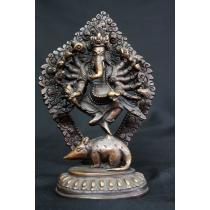 Standing Ganesh Copper Statue 5.5 inches tall