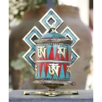 "Table Tibetan Prayer Wheel 6.5"" Height"