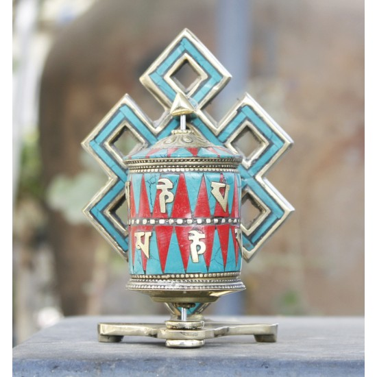 "Table Tibetan Prayer wheel 4.5"" Height"