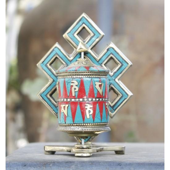 "Table Tibetan Prayer wheel 4.5"" Height"