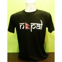 Nepal With Flag Printed T-shirt