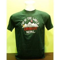 Top Of The World Mt. 8848 Everest T-shirt Nepal