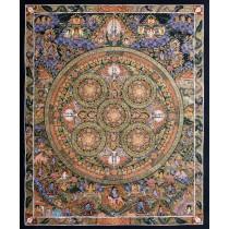 """Mandala Tibetan Thangka Painting 26.5"""" W x 32.5"""" H"""