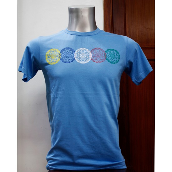 Pancha Buddha Printed T-shirt 100% Cotton