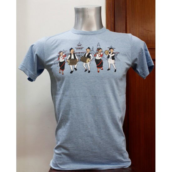 Music Team Printed T-shirt 100% Cotton