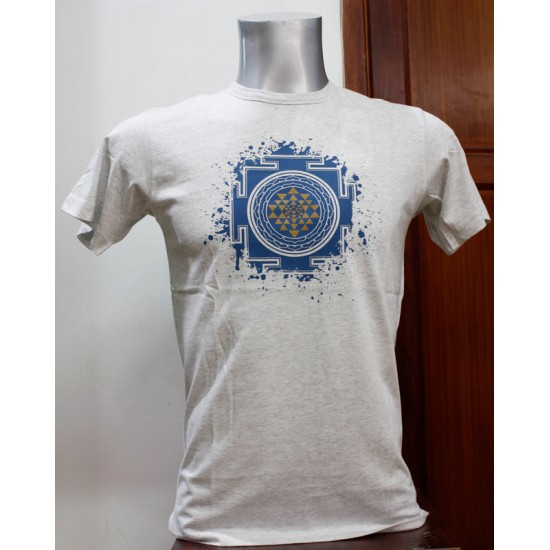 Shree Yantra Printed T-shirt 100% Cotton