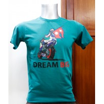 Dream Big with Nepal Flag Printed T-shirt 100% Cotton