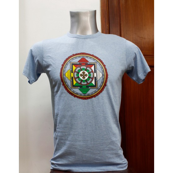 Mandala Printed T-shirt 100% Cotton