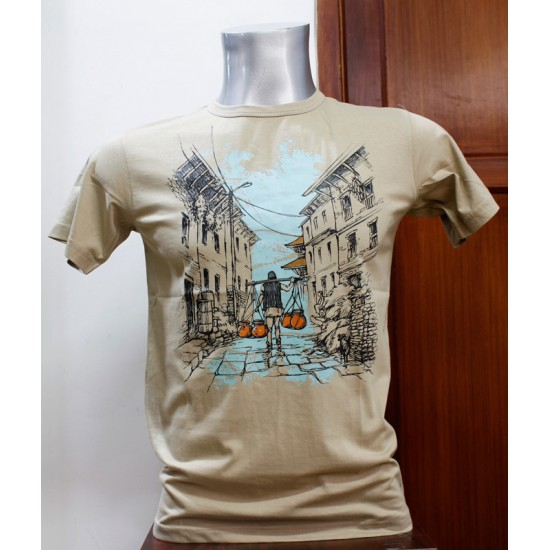 Nepali Galli ( Alley ) Printed T-shirt From Nepal