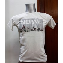 Bar Code Nepal Printed T-shirt 100% Cotton From Nepal