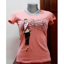 Newari Girl Printed T-shirt 100% Cotton