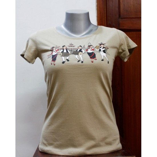 Music Team Printed Women T-shirt 100% Cotton