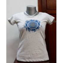 Shree Yantra Printed Women T-shirt 100% Cotton