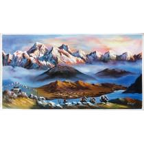 "Mount Ama Dablam Painting 36"" W x 18"" H"