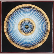 "Mantra Mandala Thangka Painting 19.5"" W x 19.5"" H"