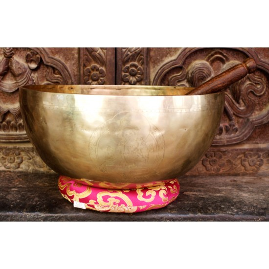 "Hand Hammered Tibetan Singing Bowl 11.5"" W x 5"" H"