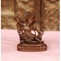 "Vajrapani Copper Antique Statue 2"" W x 3"" H"