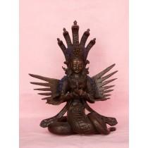 """Naagkanya Copper Antique Statue 6"""" W x 9"""" H"""