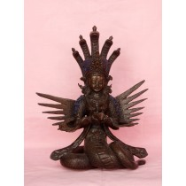 "Naagkanya Copper Antique Statue 6"" W x 9"" H"