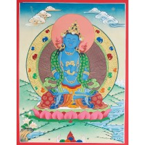 "Vajrasatwa Tibetan Thangka Painting 15.5"" W x 20.5"" H"