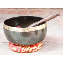 "Hand Hammered Tibetan Singing Bowl 18"" W x 10"" H"