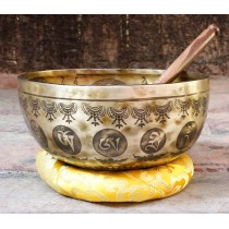 "Hand Hammered Tibetan Singing Bowl 24"" W x 12"" H"