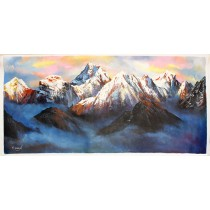 "Mt. Everest Acrylic Painting 37"" W x 21"" H"