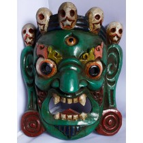 "One piece Bhairav Mask 8"" W x 9"" H"