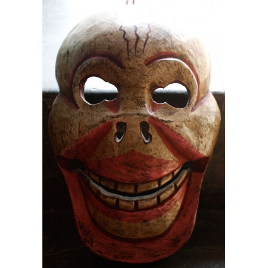 "Wooden Skeleton Mask 6"" W x 9"" H"