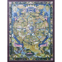 "Wheel of Life Tibetan Thangka Painting 26"" W x 34"" H"