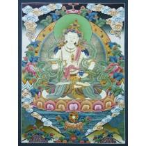 "Vajrasatwa Tibetan Thangka Painting 18.5"" W x 27"" H"