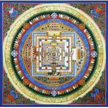 "Kaalchakra Mandala Thangka Painting 21.5"" W x 21.5"" H"