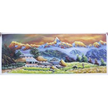 "Macchapuchhre Acrylic Painting 32"" W  x 32"" H"