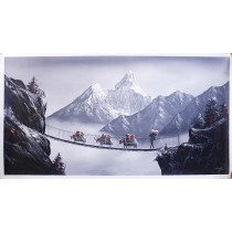 "Mt. Everest Acrylic Painting 48"" W x 24"" H"