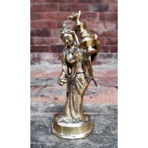 "Newari Bride Copper Statue 3"" W x 7"" H"