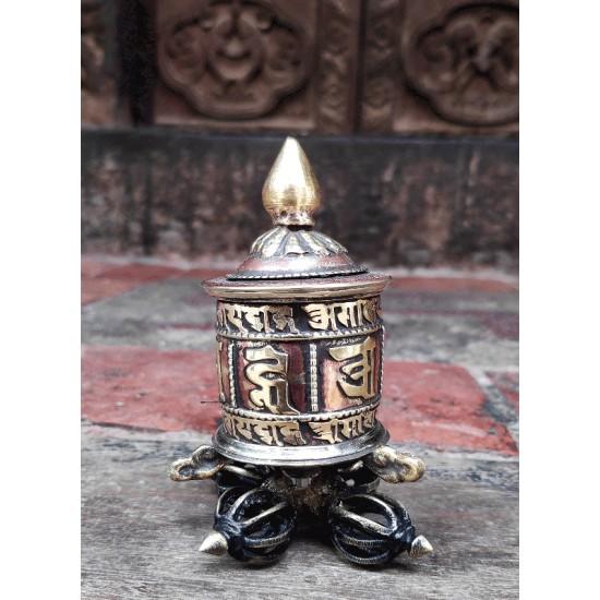 "Small Prayer wheel 2.5"" W x 4"" H"