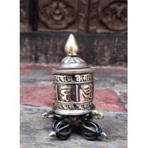 "Small Prayer wheel 2.5"" W x 4"" H"