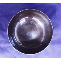 "Black Plain Singing Bowl 6.5""W  x 3"" H"