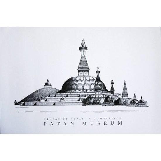 """Stupas of Nepal Patan Museum Poster 25""""W x 17""""H"""