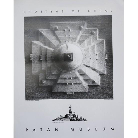 """Boudhanath B/W Patan Museum  19""""W x 25""""H"""