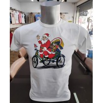 Santa claus Printed T-shirt 100% Cottan Made in Nepal