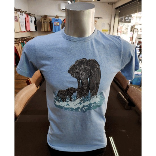 Elephant  Printed T-shirt Made in Nepal