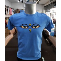 Buddha Eye Printed T-shirt Made in Nepal