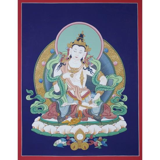 "Vajrasatwa Tibetan Thangka Painting 17"" W x 22"" H"