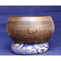 "Asta Mangala Singing Bowl 6""W x 3.5""H"