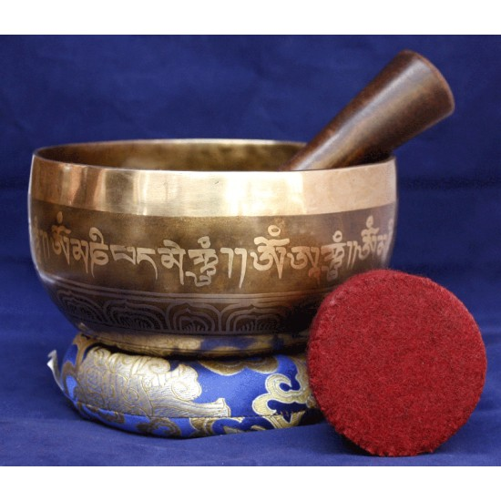 "Vajra Bishow Singing Bowl 6.5""W x 3.5""H"
